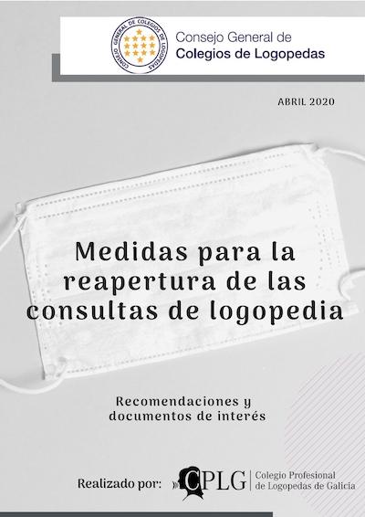 MEDIDAS PARA LA REAPERTURA DE LAS CONSULTAS DE LOGOPEDIA