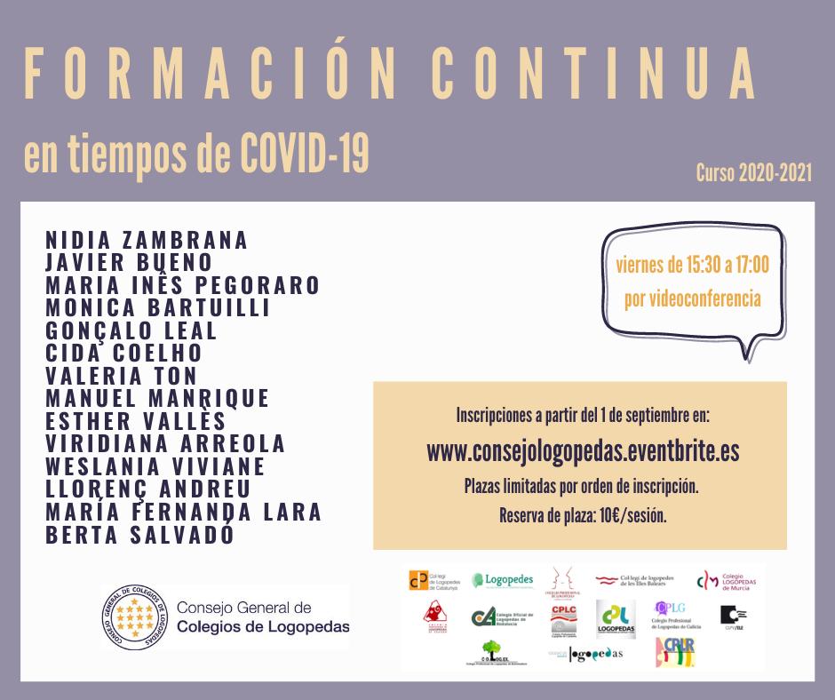FORMACIÓN CONTINUA EN TIEMPOS DE COVID-19