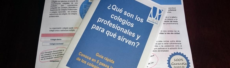 ¿Qué son los colegios profesionales y para qué sirven? Una breve guía para hacer llegar la función colegial a la sociedad