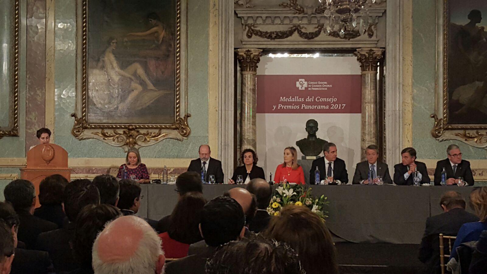 ENTREGA DE MEDALLAS Y PREMIOS PANORAMA DEL CONSEJO GENERAL DE FARMACÉUTICOS